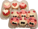 Valentine's Decorated Cupcakes
