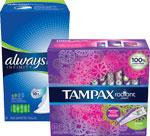 Always Infinity Feminine Pads& Tampax Radiant...