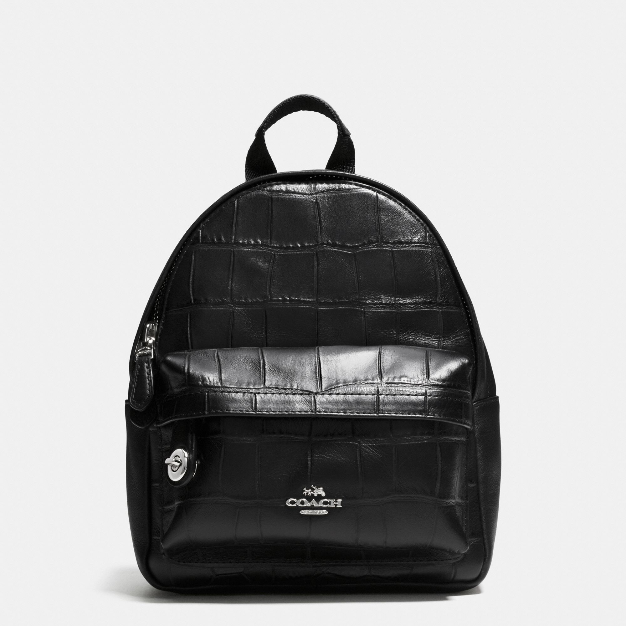 Coach Mini Campus Backpack In Croc Embossed Leather 37713 ...