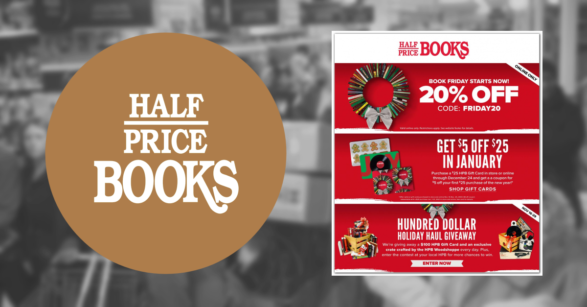 Half Price Books Black Friday Ad Scan For 2018 Black