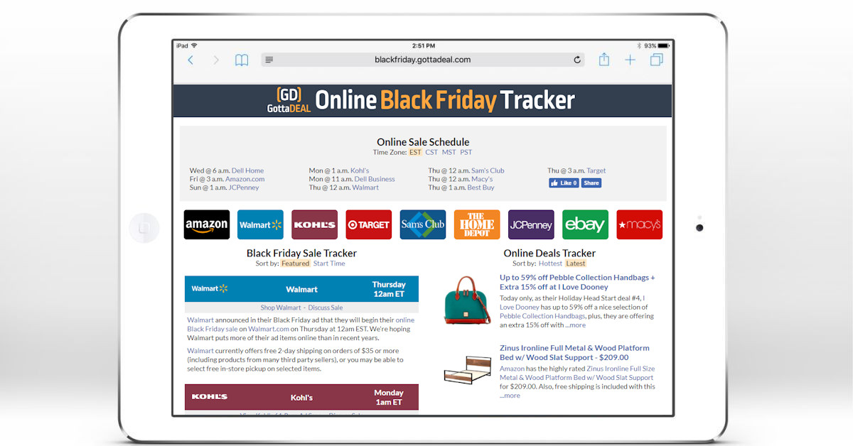 Online Black Friday Tracker Black Friday Gottadeal