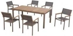 Hampton Bay Barnsdale Teak 7 Piece Patio Dining Set 599 00