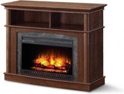 Whalen Media Fireplace Console Rustic Brown 139 32
