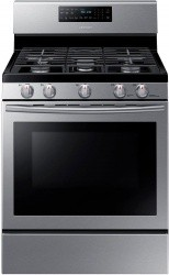Samsung 5.8 cu.ft. Self-Cleaning Freestanding Gas Range, Stainless - $661