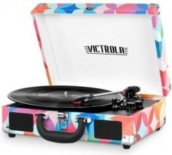 Victrola Portable Suitcase Turntable with Bluetooth, Many Styles - $49.88