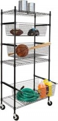 Honey Can Do All-Star Sports Shelving Unit with Wheels - $139.99 Today
