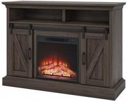 Whalen Allston Barn Door Media Fireplace Tv Stand Warm Brown