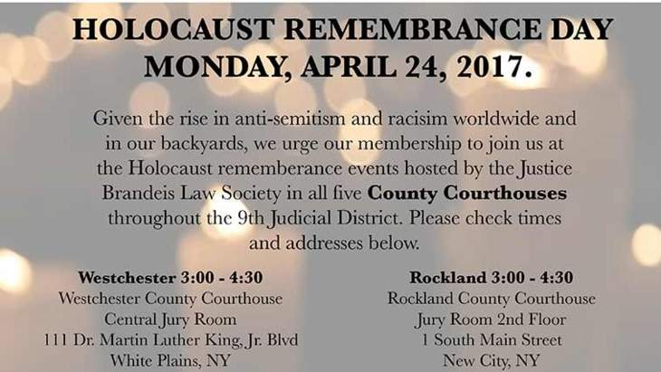 Holocaust Rememberance Day 2017