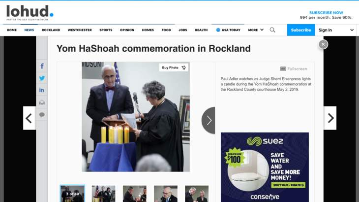 "Lohud.com - Pictures from ""Yom HaShoah commemoration in Rockland"""