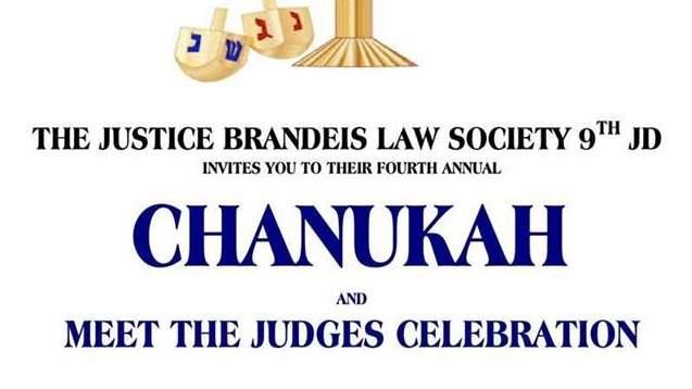 Fourth Annual Chanukah and Meet the Judges Celebration