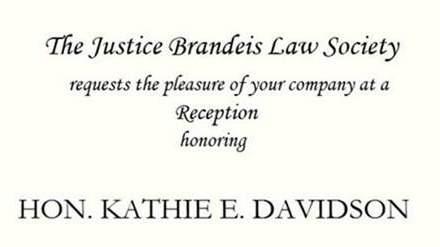 Reception Honoring the Hon. Kathie E. Davidson