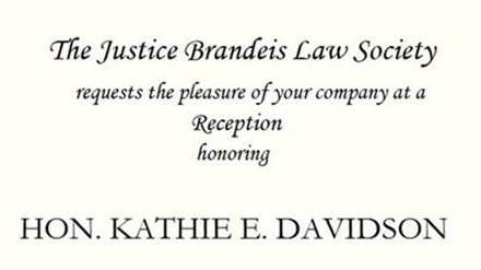 Reception Honoring the Hon. Kathie E. Davidson