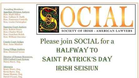 Join SOCIAL for a Halfway to Saint Patrick's Day Irish Sesiun