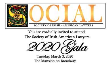 SOCIAL - Society of Irish American Lawyers - 2020 Gala