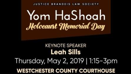 Westchester County Courthouse - Yom HaShoah Holocaust Memorial Day