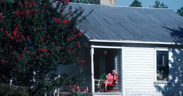 porch woman