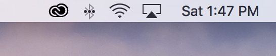 Date and time icon in macOS menu bar