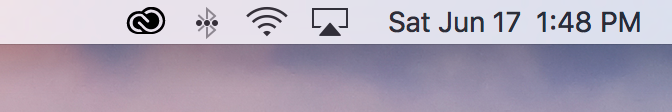 Date and time icon in macOS menu bar now with date turned on