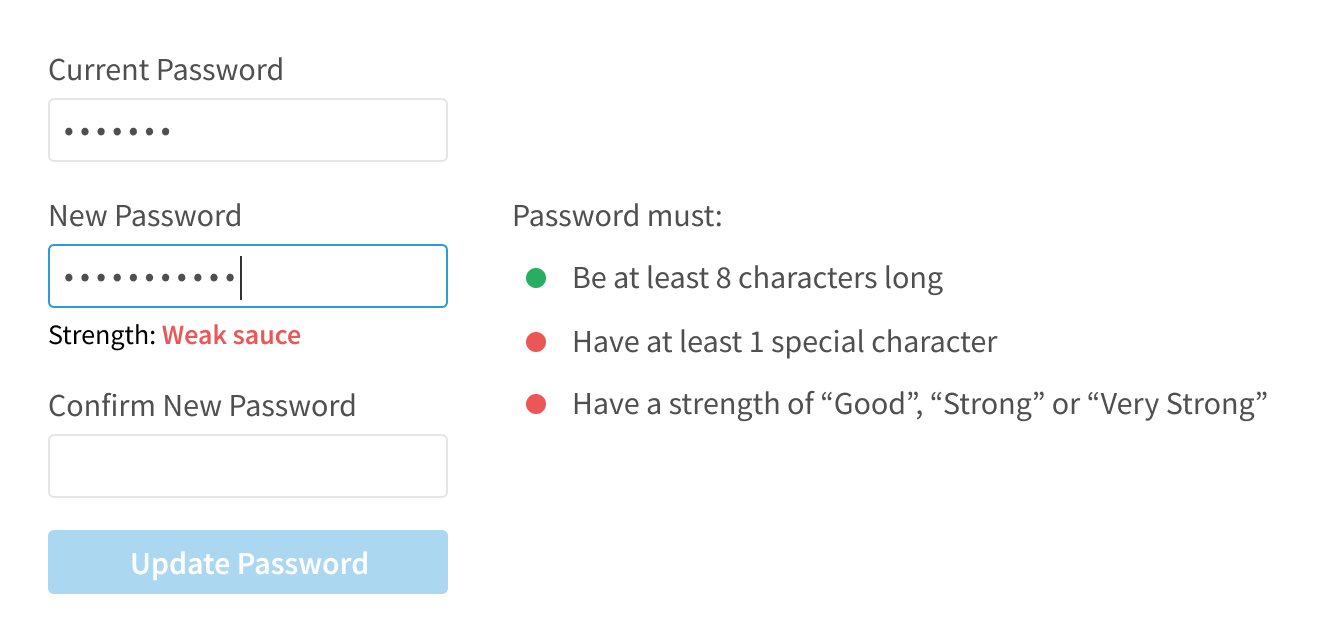 Password reset criteria with circles