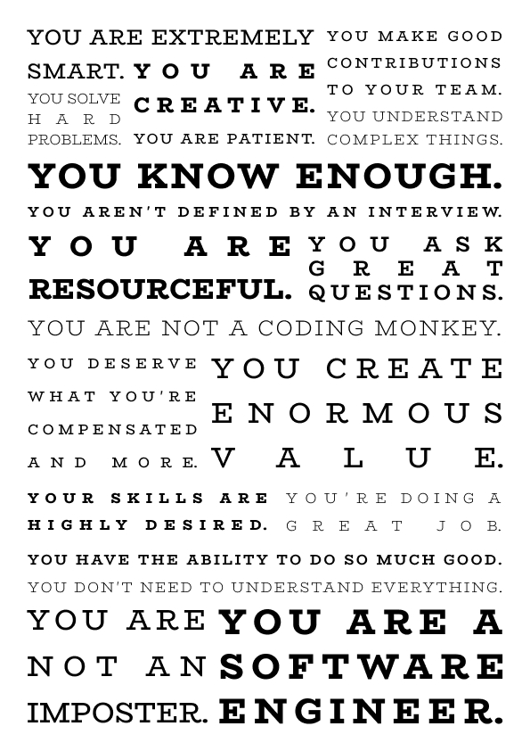 You are a software engineer poster