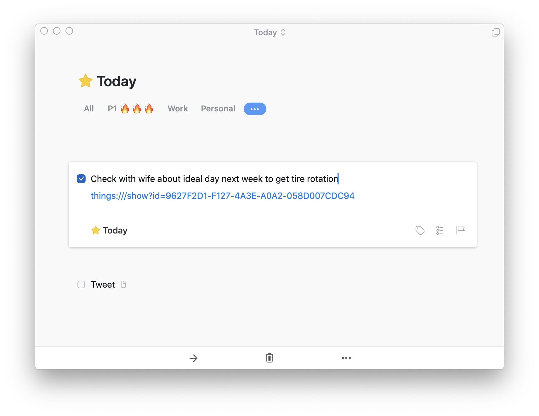 To-do, expanded to show notes