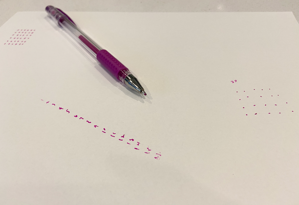No idea how to get dots to work, even on paper