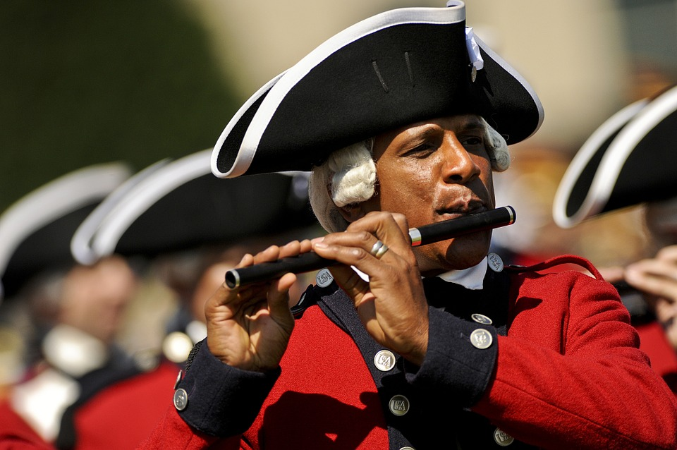 military fifer musician ceremonial guard old usa