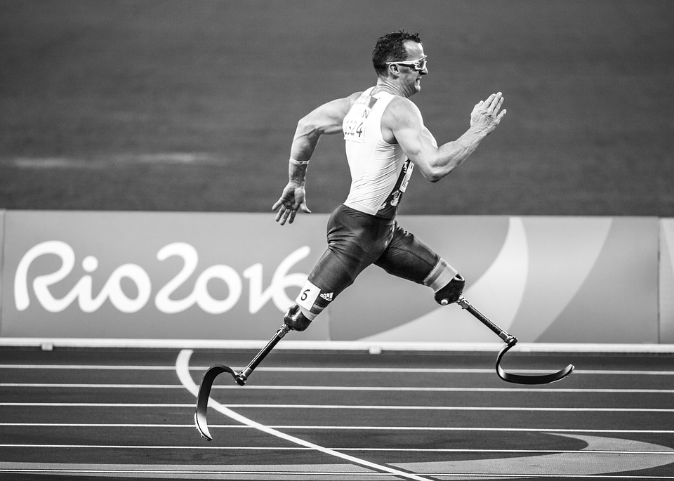Action Adult Paralympics Prosthetic Athlete