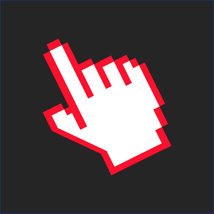 Mouse Cursor Hand Finger Click Clickbait Click On