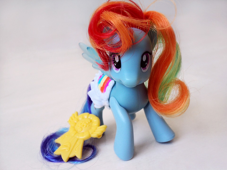 my little pony toy close pony cute blue object