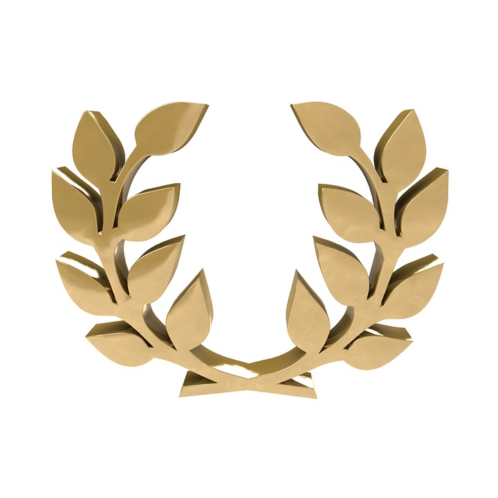Caesar Ave Rome Ruler Laurel Wreath Gold