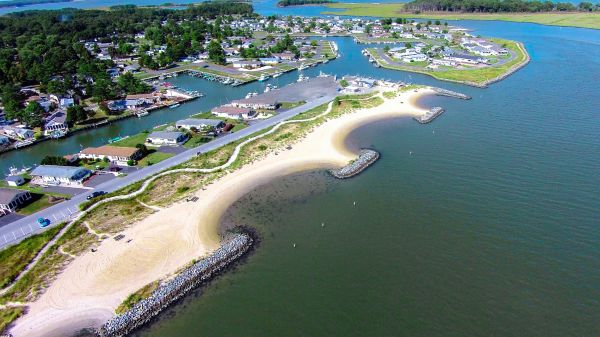 Pot-Nets has nearly 5 miles of waterfront with private, sandy bay beaches!