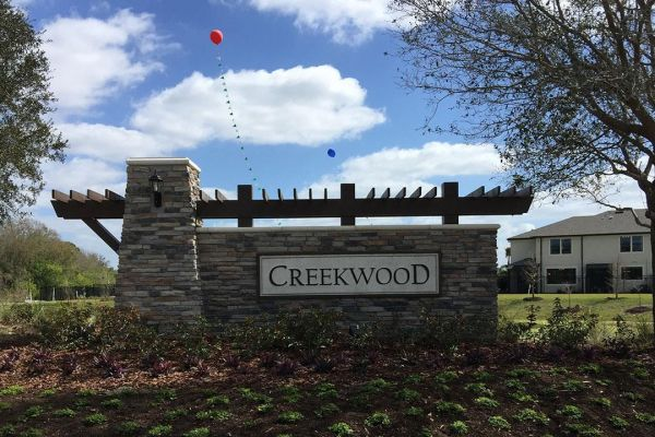 Creekwood Townhomes Entrance