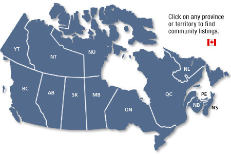 Click Map to find active communities in Canada