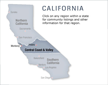 Top Rated Places for Central Coast and Valley - California