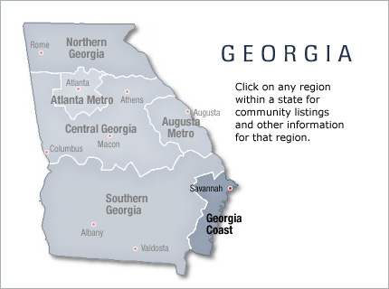 Georgia Coast Active Retirement Communities And Homes Area Info - Georgia map islands