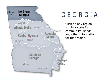 Northern Georgia Active Retirement Communities and Homes Area Info