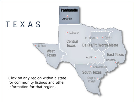 Texas Panhandle RV Communities And RV Homes Area Info - Where is texas