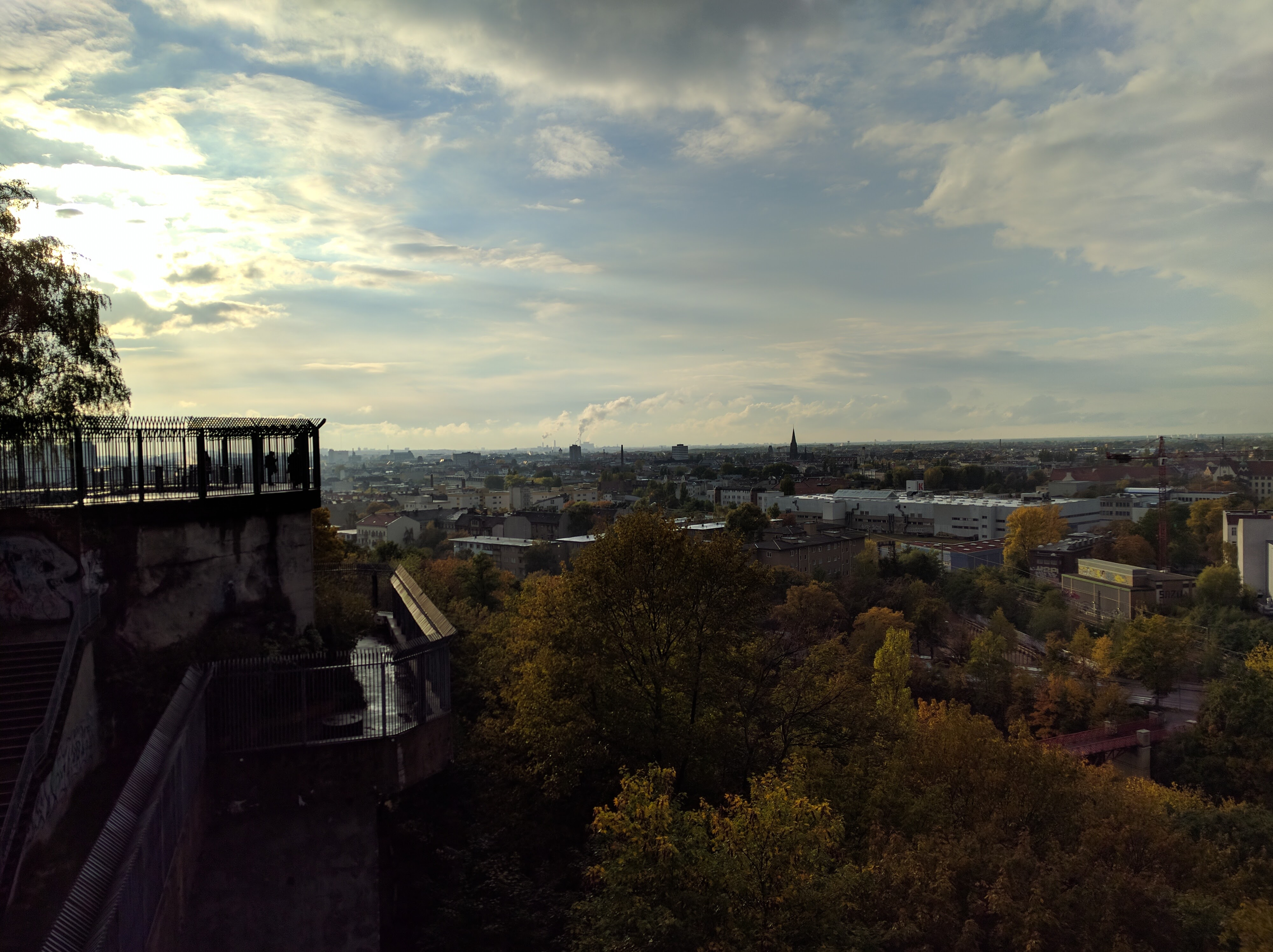 atop the flack tower