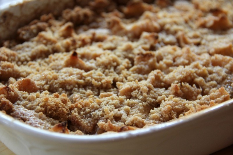 Apple Crisp Without Oats - Brown Sugar Streusel Topping