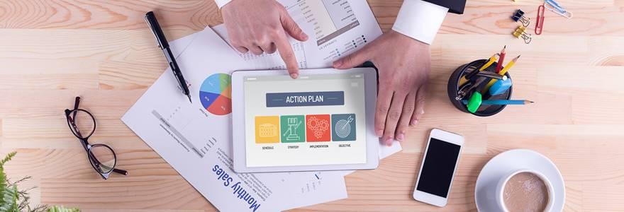 gestor apresentando plano de ação
