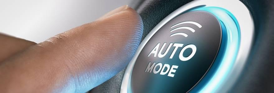Botão de piloto automático
