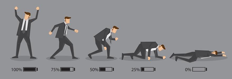 Figura mostrando um homem perdendo suas energias.