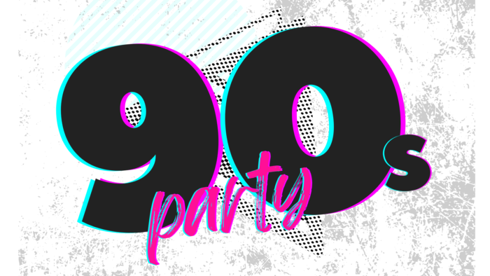 90s party event banner