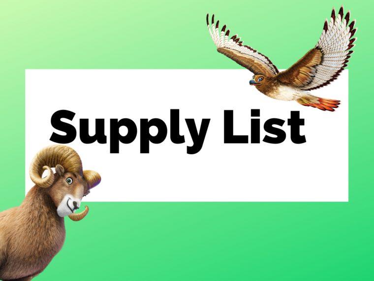 Copy of Supply List