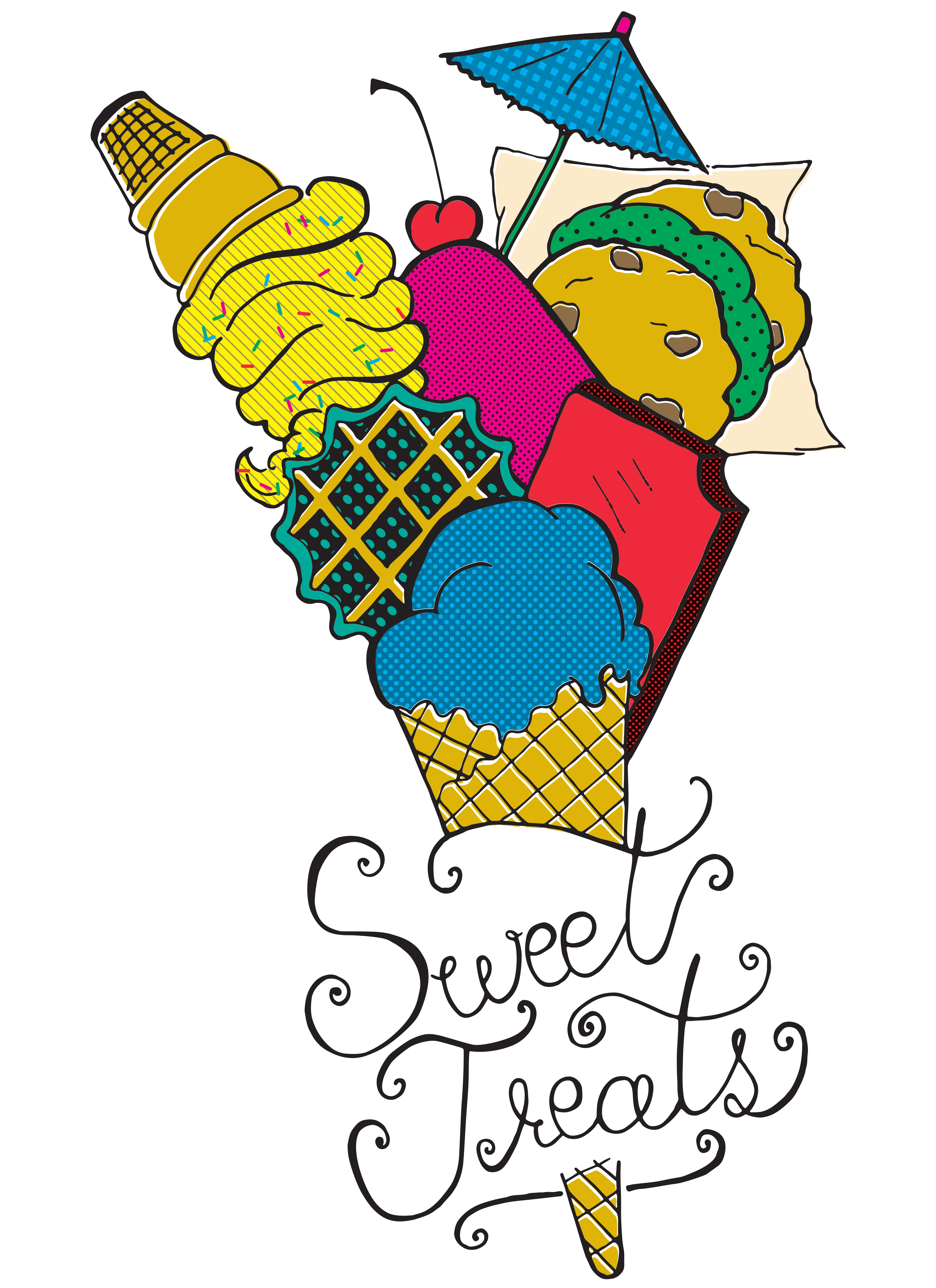 Sweet Treats Illustration Color