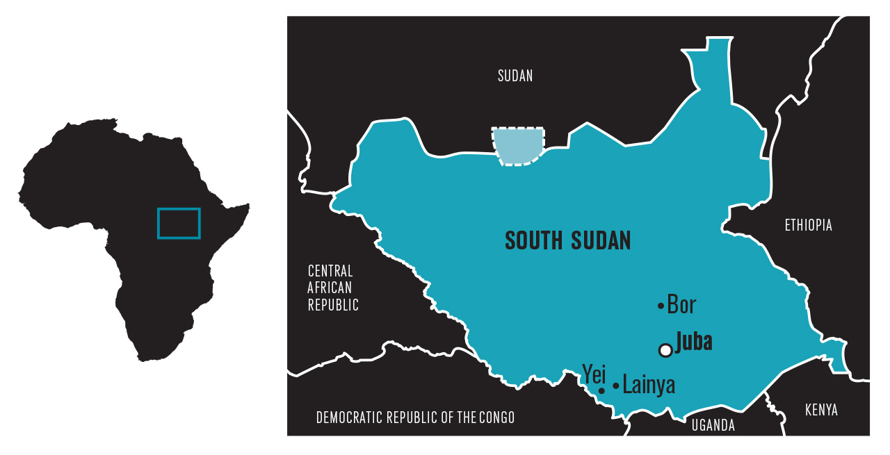 South Sudan Map 1280x700