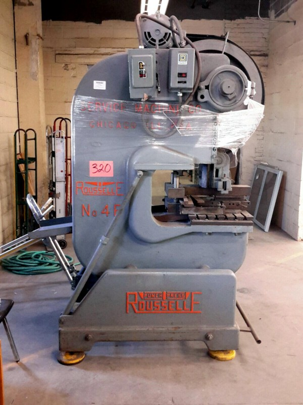 Ibid Lot 320 Rousselle No 4f 40 Ton Punch Press