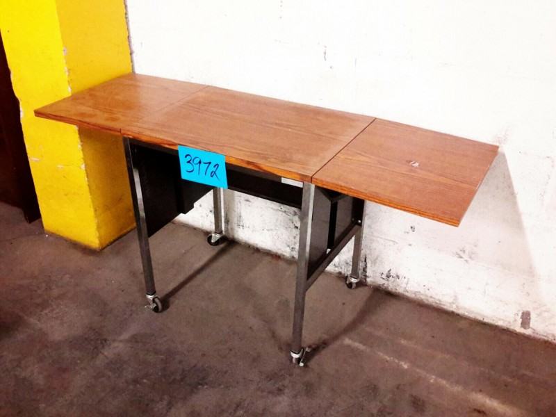 Ibid Lot 3972 Small Drop Leaf Table On Wheels