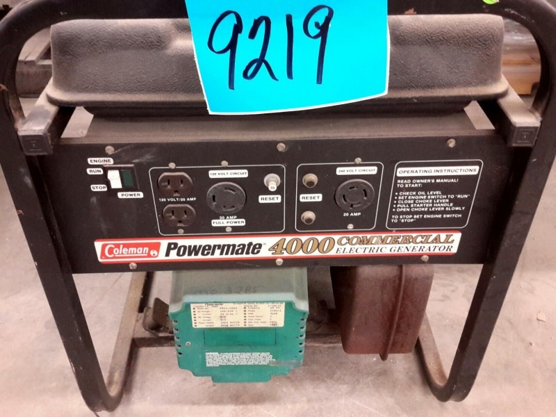 iBid Lot # 9219 - Coleman Powermate 4000 Commercial Electric